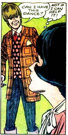 """Can I have this dance?"" Pop art Vintage comic panel"