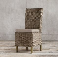 Handwoven Rattan Side Chair