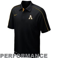 Nike Appalachian State Mountaineers 2012 Coaches Control Force Performance Polo - Black