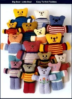 Retro Knitting Teddy Bear Knitting Patterns To Make Knitted Teddy Bears Knitting Books, Vintage Knitting, Free Knitting, Knitting Projects, Baby Knitting, Teddy Bear Knitting Pattern, Knitted Teddy Bear, Knitting Patterns, Crochet Patterns