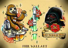 Star Wars Tattoo Art by Phil Wall. The wookie.