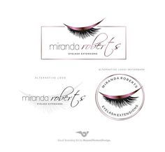 Lashes logo Eyelash extension logo Cosmetics logo Branding Eyelash Logo, Cosmetic Logo, Makeup Artist