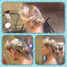 Beautiful #Dancesport Hairstyling