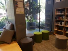 Stools area at St Columbas library
