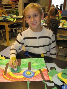 Jamestown Elementary Art Blog: 1st Grade Hundertwasser Lollipop Trees