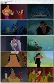 the emperor's new groove- oh lord, I love this movie. Kronk, the Squirrel, Yzma, Kuzco himself. Pacha! His kids, his wife. I love them all. They make me laugh. Every time!