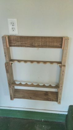 Build this up and out of the way fishing rod holder from for Wall mount fishing pole holder