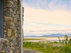 beautiful 5 star natural stone built family bungalows with Jacuzzi, small Sauna, Steam shower, enjoying spectacular views over the white sands of Scarista beach and the ocean beyond.  Isle of Harris.