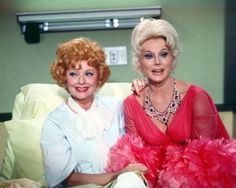 """classic actresses Lucille Ball and Eva Gabor as they appeared in a 1972 episode of """"Here's Lucy"""" Classic Actresses, Hollywood Actresses, Old Hollywood, Actors & Actresses, I Love Lucy, Gabor Sisters, Zsa Zsa Gabor, Lucille Ball Desi Arnaz, Eva Gabor"""