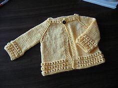 Ravelry: F207 Top Down Baby Sweater pattern by JoAnne Turcotte