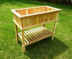 Build a Cedar Raised Garden Bed - Wood Plans with photos