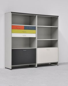 Andre Cordemeijer Enameled Metal Storage Unit from the Modular 5600 Series for Gispen Culemborg,