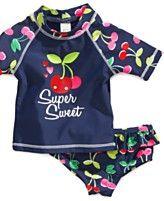 Carter's Baby Swimwear, Baby Girls 2-Piece Super Sweet Cherry Rashguard Swimsuit