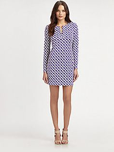 Diane von Furstenberg - Reina Silk Jersey Dress - 298 -- possibly also with leggings