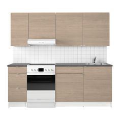 IKEA KNOXHULT Kitchen Wood effect grey 220x61x220 cm Complete kitchen which includes worktop, shelves, drawers, sink bowl, wash-basin mixer tap and...
