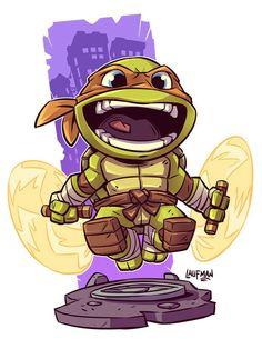 Teenage Mutant Ninja Turtles Ninja Turtles Art, Teenage Mutant Ninja Turtles, Teenage Turtles, Chibi Marvel, Chibi Characters, Cartoon Art, Comic Art, Character Art, Batman