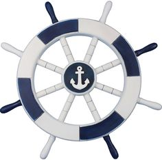 Dark Blue and White Decorative Ship Wheel with Anchor 18 Product ID: 5281 Item ID: Weight: 4 LB Box Dimensions: 21 x 4 x 21 (L x W x H) (This model ships in days ) This Dark Blue and White Ship Wheel with Anchor 18 combines a beautiful whitewash and dark Home Decor Catalogs, Home Decor Online, Home Decor Store, Home Decor Outlet, Cheap Home Decor, Diy Home Decor, Anchor Wall Decor, Nautical Wall Decor, Nautical Bath