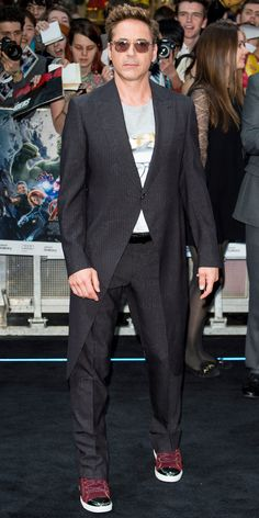 12 Photos that Prove the Avengers: Age of Ultron Cast Is Too Hot to Handle - Robert Downey Jr.  - from InStyle.com