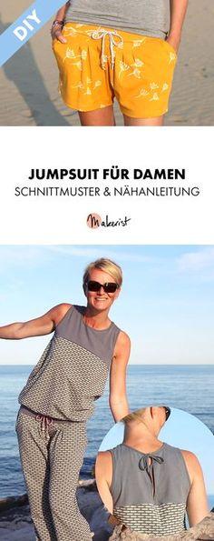 Sommerlicher Jumpsuit für Damen - Nähanleitung und Schnittmuster via Makerist.de