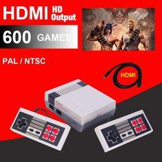 Classic Video Game Console - 500/600 Built In Games - Retro Family Mini Family Fun