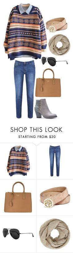 """""""Untitled #4256"""" by kaitoven on Polyvore featuring Brakeburn, Prada, GUESS, Ray-Ban and John Lewis"""