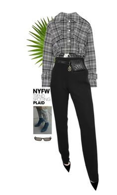 """""""Nyfw"""" by yagmur ❤ liked on Polyvore featuring Off-White, Dsquared2, Ann Demeulemeester, Balenciaga, Chanel, contestentry and NYFWPlaid"""