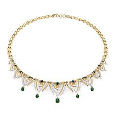 Peacock Pinion Necklace Jewellery India Online - CaratLane.com