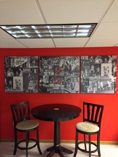 University of Cincinnati Fan Cave Winner received a custom make over with Formica Laminate Products. Here is a wall mural with our Custom Laminate Line, Formica Envision™