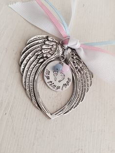 Pregnancy Loss, Miscarriage, Remembrance, Memorial, Angel Wing, Ornament…