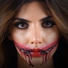 Mouth Gash Looks for halloween!  #makeup #glam #beauty