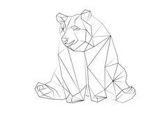 geometric animals black and white - Buscar con Google