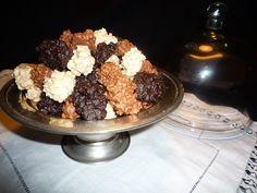Rocas de tres chocolates