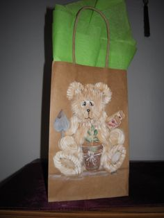 Hand Painted Bags by Elvira Nell Garden time