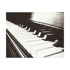 Piano Keys Wrapped Canvas Wall Art