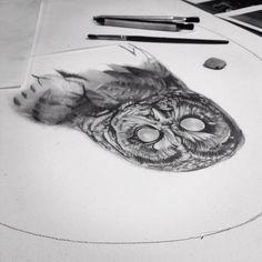 .@phenylalanine | Hwoooo. #blind #owl #drawing #wip #charcoal #pencil #art | Webstagram - the best Instagram viewer