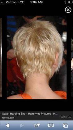 sarah harding back of hair - Bing Images
