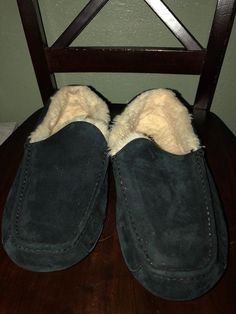 d534ab1b918 UGG Ascot Slippers Mens Size 12 US Black UGG Australia Size 11 UK  fashion   clothing  shoes  accessories  mensshoes  slippers (ebay link)