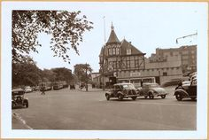 E. Fordham Road, at the S.W. corner of Southern Boulevard, showing the Embassy Club. It was formerly known as the Parkway Hotel and was erected sometime between 1893 and 1900. The view is east. May 12, 1938. P. L. Sperr.