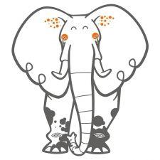 sticker enfant éléphant