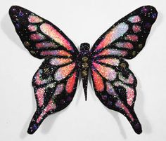 Rainbow Butterfly | YouTube Video: How to Rainbow Glitter a Butterfly with Barbara ...