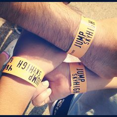 Wrist bands for jumping