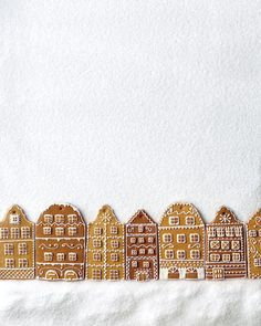 gingerbread town-square