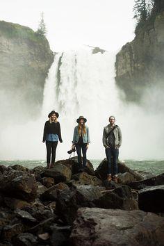 erickimberlinbowley:  Northwest waterfalls with Kaitlin, Bethany & Cory.