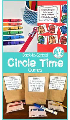 Circle time is a favorite in preschool and kindergarten classrooms! So, you can never have enough circle time games and activities! These three ideas are sure to be a hit with your kids during your back-to-school theme! #preschool #kindergarten #circletime #preschoolideas #kindergartenideas