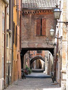 Via delle Volte, Ferrara, Italy, province of Ferrara , Emilia Romagna