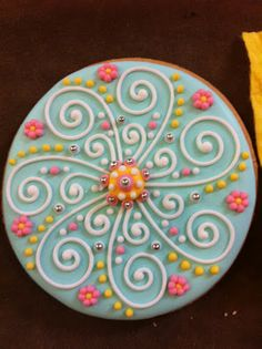 Colorful cookies - flowers and swirls