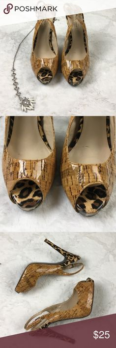 Oh Deer  Cheetah Print Cork Stiletto Heels✨ Oh Deer  Cheetah Print Chic Stiletto Heels✨ Woman's size 8 1/2. Gently used no flaws! See photos for exact detail Oh Deer Shoes Heels