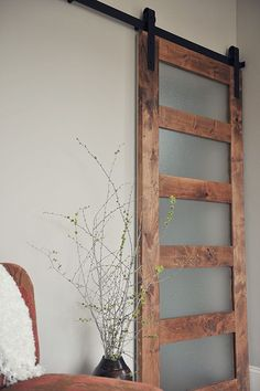 Our contemporary 5-Panel Barn Door features five fogged acrylic insets in aa alder wood frame for a unique barn door. Free Shipping on doors and hardware.