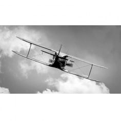 Aviation Classics: Biplane Black and White Airplane Photography By Simon Gratien on NewX