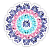 circle of owls T-shirt  Sticker